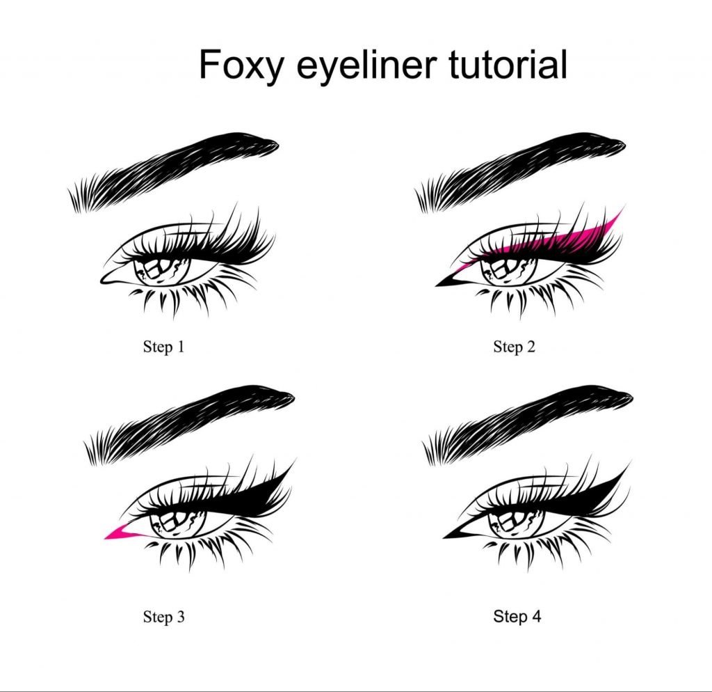 How to draw the perfect fox eyeliner