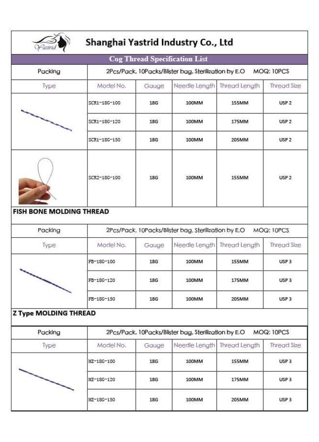 Yastrid Cog Thread Size 2